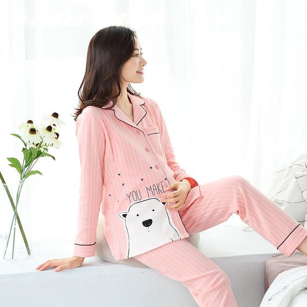Süße Sommer Mutterschaft Kleider Abend lang für schwangere Frauen Floral Luxus Baumwolle Mutterschaft Pflege Nachtwäsche Set