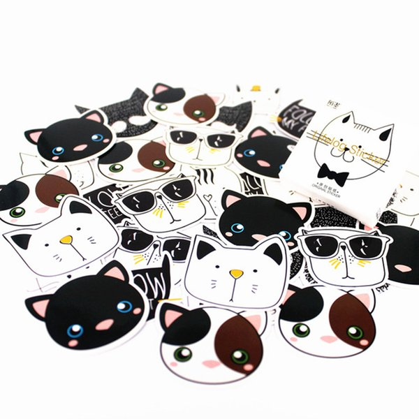 1pcs 2018 NotDiary of Stickers Notepad Black and White Cat Paper Note Book Replaceable Stationery Gift Traveler Journal