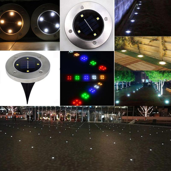 top popular IP65 Waterproof 2led 4led 8led Solar Outdoor Ground Lamp Landscape Lawn Yard Stair Underground Buried Night Light Home Garden Decoration 2021