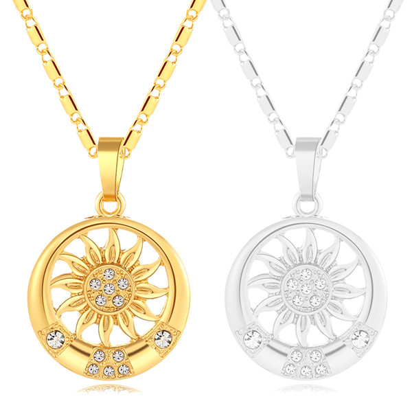 New Fashion Women Middle Eastern Islamic Religious Muslim Round necklace/neck chain for Gold/Silver color Arab jewelry gift Bijoux