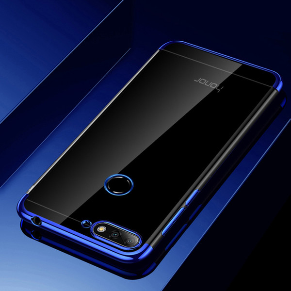 Maoruisi For Huawei Honor 7A Pro Case Luxury Laser Plating Soft Clear Back Cover For Huawei Honor 7A Pro Prime Phone bag Cases