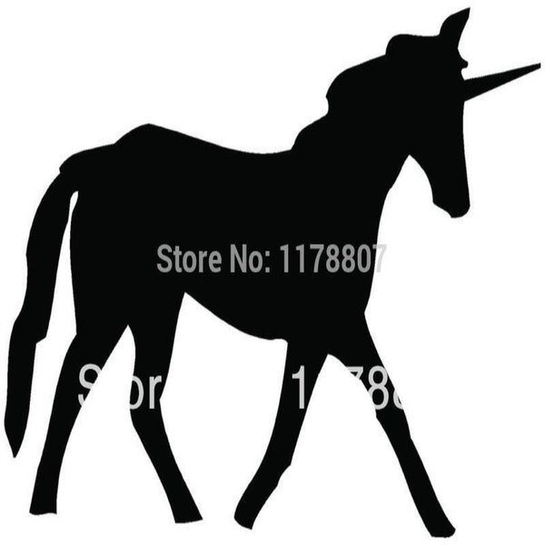 HotMeiNi Wholesale 20pcs/lot UNICORN Sticker For Car Rear Windshield Truck SUV Auto Laptop Kayak Canoe Art Wall Die Cut Vinyl 8 Colors