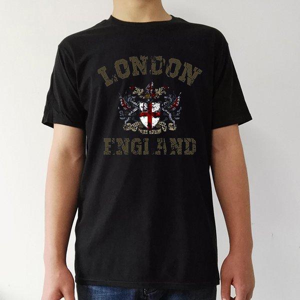 Vintage londres inglaterra Bears Supporter Tees camisa preta de t homens  casuais T-shirt do 1c2dfb2c6d0c7