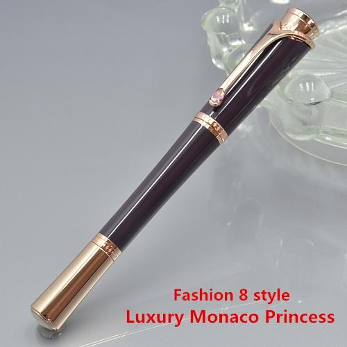 9 Stil - Bestnote Monte Marken Monaco Princess Metall Roller Kugelschreiber Schreibwaren Schulbedarf und Serial Nunber Diamant-Clip