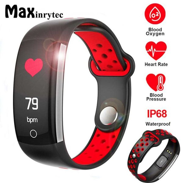 Maxinrytec E6 Fitness Tracker Smart Bracelet HR Fitness Bracelet Sleep Tracker Waterproof IP68 Activity for Android