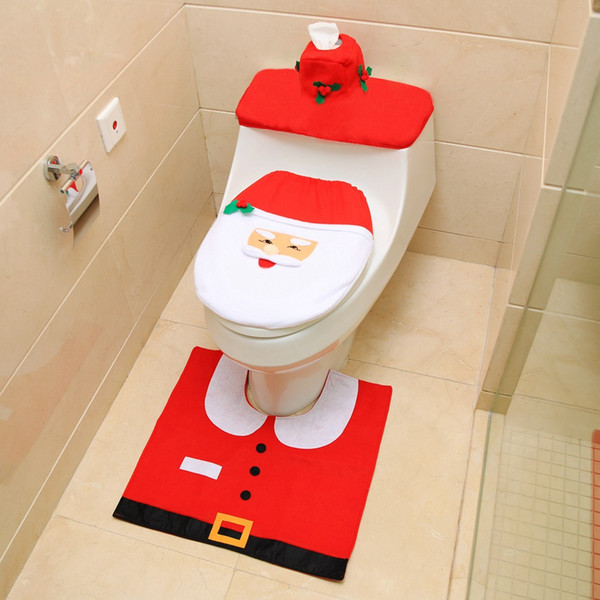 Astounding Of 3 Santa Toilet Seat Covers And Rug Set Christmas Decorations Bathroom Trim From Shunhuico 6 54 Dhgate Com Customarchery Wood Chair Design Ideas Customarcherynet