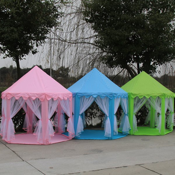 High Quality Girl Princess Pink Castle Tents Portable Children Outdoor Garden Folding Play Tent Lodge Kids Balls Pool Playhouse