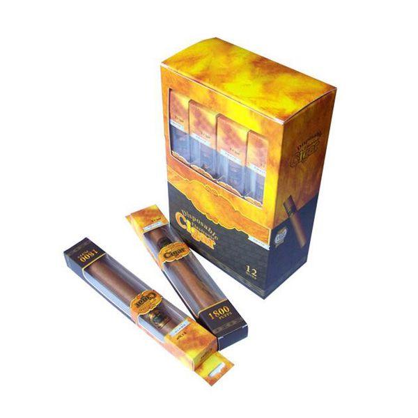 Newest disposable cigar 1800 Puffs disposable vape pen electronic cigarette Kit top quality Cuban cigars E Cig Vapor Shisha Hookah time