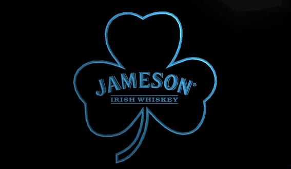 LS802-b- Jameson Whiskey Shamrock 3D LED Neon Light Sign Customize on Demand 8 colors to choose