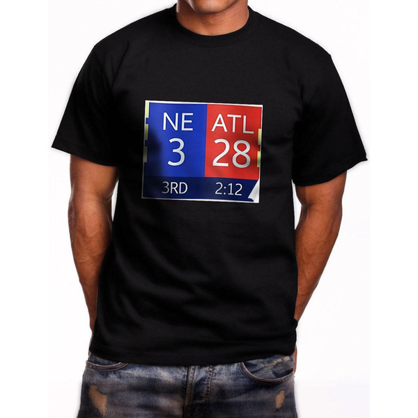 d906f7490d2 New Falcons Lead 28 3 Short Sleeve Men S Black T Shirt Size S To 3XL ...