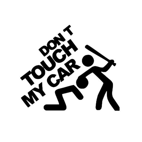 Funny Dont Touch My Car Pattern Reflective Car Sticker Strong Adhesion Waterproof PVC Sticker Car-styling Decoration decals