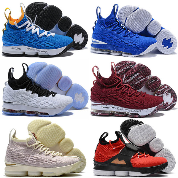 purchase cheap 48377 466bf Monica89 Black Equality Gum Lebron James 15 Mesh Surface Xv Pe 15s Men  Women Of White Ghost Ashes Basketball Shoes All Red Training Sneakers  Online ...