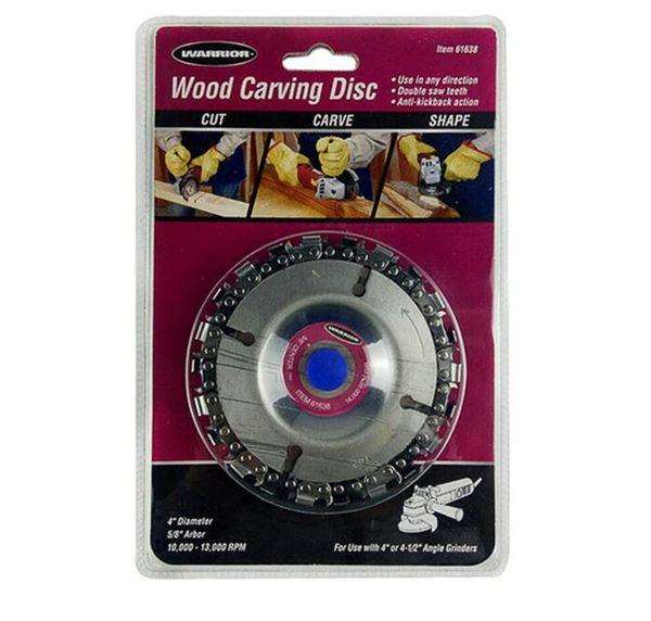 Ángulo de molienda de la placa de la cadena de la carpintería de la cadena de la placa de talla de madera Disco para accesorios de la herramienta eléctrica de la amoladora angular
