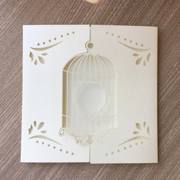 Compre 45 Unids Romantic Birdcage Diseño Tarjeta De Invitación De Boda Decoraciones Para Fiestas De Cumpleaños Banquete Suministros Tarjeta De