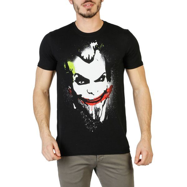 T-shirt DC Comics DC Comics Uomo Nero 88054 T-shirt Uomo 2018 New Pure Cotton T-Shirt uomo manica corta Moda