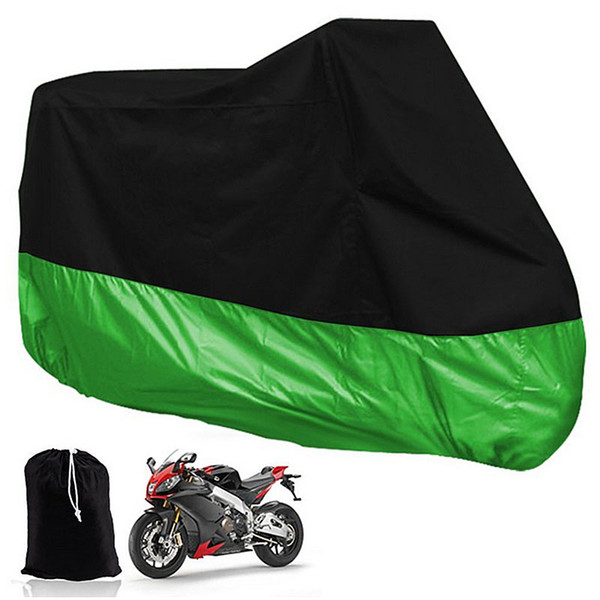 XXL 180T Universal Motorcycle Cover UV Protector Waterproof Rain Dustproof Anti-theft Motor Scooter Covers MBA_60E
