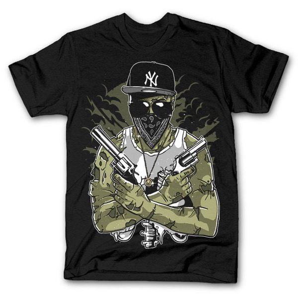 Gangsta Zombie Dtg Mens T Shirt Tees New 2018 New Brand - Clothing T Shirts Loose Size Top Ajax 2018 New Fashion Streetwear