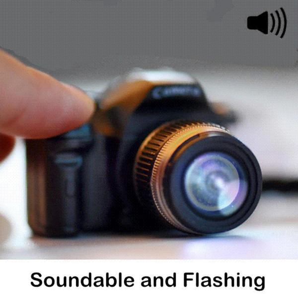 Kreative Kamera LED Schlüsselanhänger Spielzeug Kamera mit Auslöser Sound LED Taschenlampe Schlüsselanhänger Spielzeug Geschenk Coole elektronische Spielzeug