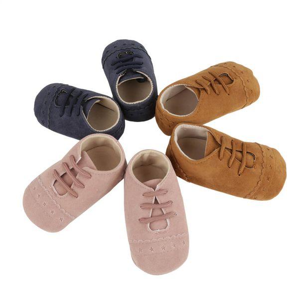 Zapatos de bebé Recién nacido Cálido Nubuck Zapatillas de cuero Niños Botines Mocasines de invierno Calzado Niños Niños Suela suave Primeros andadores
