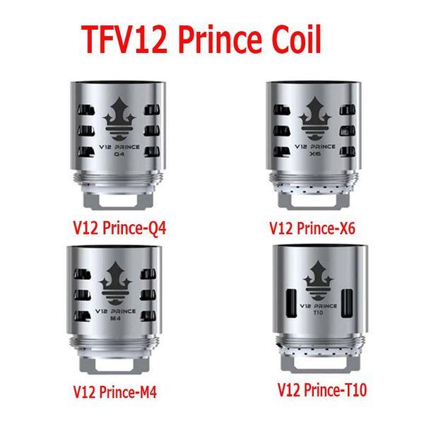 Repuesto de alta calidad TFV12 Prince Cloud Beast Coil Head Q4 M4 X6 T10 para Massive Vapor Vape Core Tank