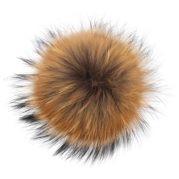 100% Natural Raccoon Fluffy Fur Pompon DIY Real Fur Big Ball Pom Pom Ponpon Pumpon Accessories for Caps Skullies Hats Shoes Bags