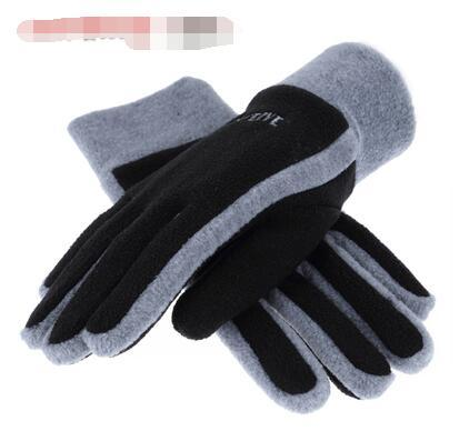 top popular Men's autumn winter youth pair gloves thickened men and women winter cycling warm outdoor fleece gloves 2019