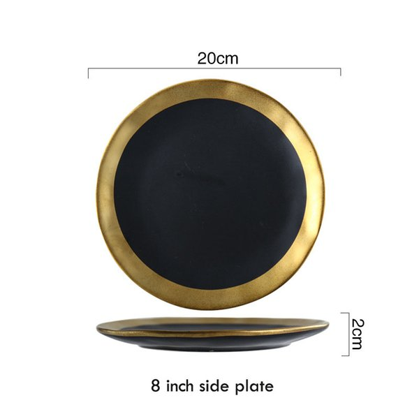 8 بوصة لوحة - أسود
