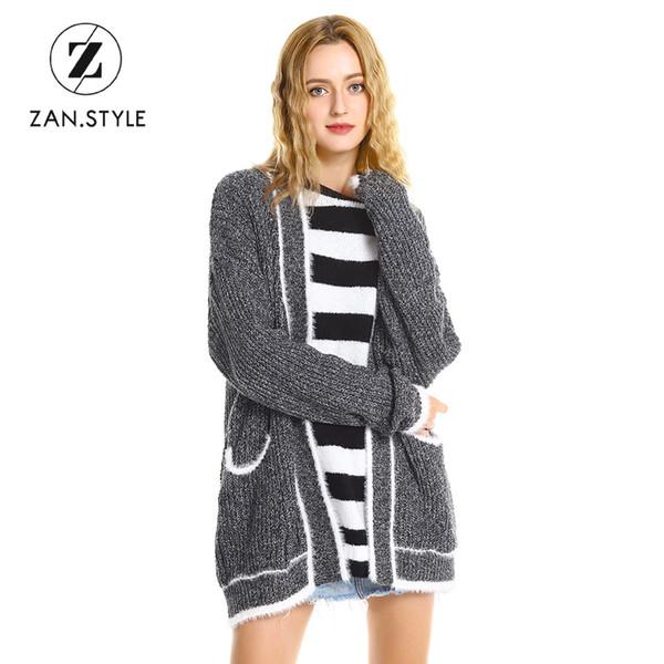 Compre ZAN.STYLE Diseño De La Marca Suelta Casual Niñas Tejer ...