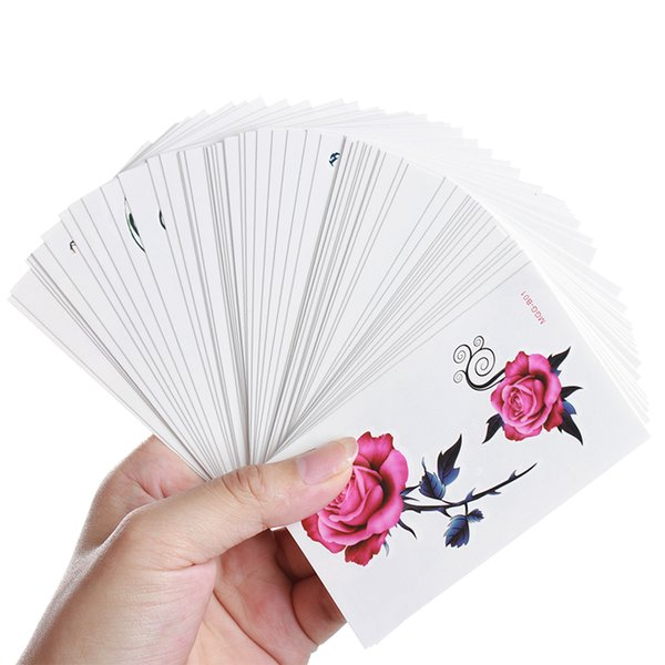 60pcs Cute Flower Tattoo Sticker Temporary Body Art Makeup Fake Tatoo DIY Styles Tatouage Temporaire Femme
