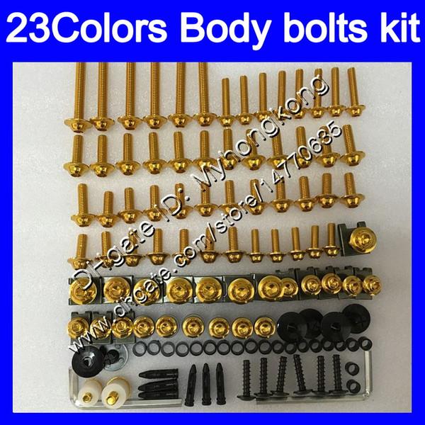 Kit completo de tornillos de carenado Para KAWASAKI NINJA ZX6R 98 99 00 01 ZX 6R ZX 6 R 98 99 ZX-6R 1998 1999 Tuercas de cuerpo tornillos tuercas kit de tornillos 25Colores
