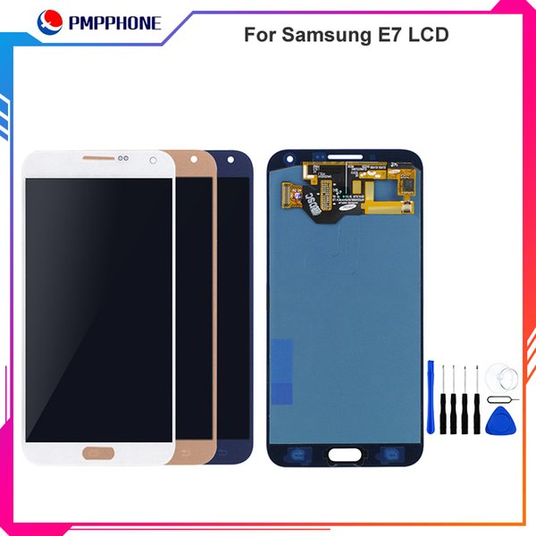 For Samsung Galaxy E7 LCD E700 E700M E700F E7000 LCD Display Digitizer Touch Screen Panel Assembly For Saisng Galaxy E7 LCD Adjustable light