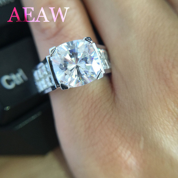 3.5Carat 9mm Cushion Cut And Princess Moissanite Engagement&Wedding Lab Diamond Ring Double Halo Ring Genuine 14K 585 White Gold S923