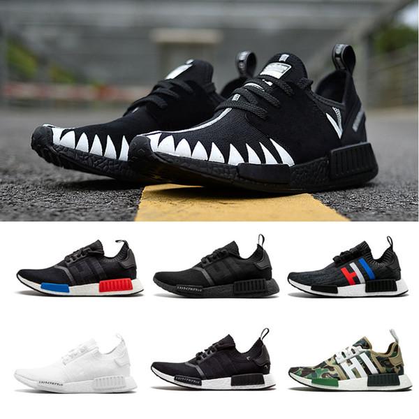 High Quality NMD R1 Runner R1 Primeknit PK Running Shoes Men Triple Black White Camo Red Grey Women NMD R1 Sports Sneakers 36-45