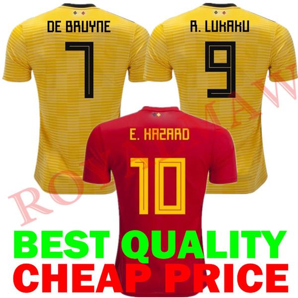 best service 01850 a17f9 2018 Belgium Jersey 2018 World Cup Belgique Maillot De Foot Hazard Home Red  Away De Bruyne Belgien Football Shirt Lukaku België Soccer T Shirt From ...