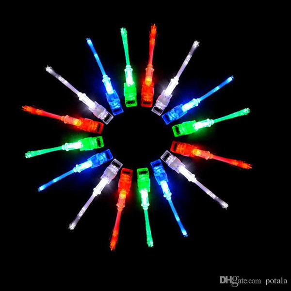 Finger Optic Fiber Light Couleur Anneau Led Lampe Enfants LED Nouveauté Veilleuse Led Rave Jouets Doigt Jouets Éclairant Jusqu'à La Couleur Changeante De Noël Halloween