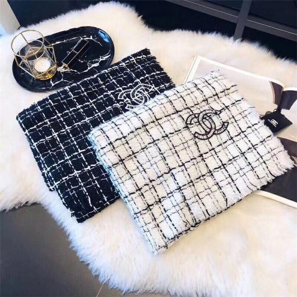 Neuer Designer-Kaschmirschal bestickter Kaschmirschal aus weicher Wolle und warme Herren- und Damenschals 180 * 70 cm