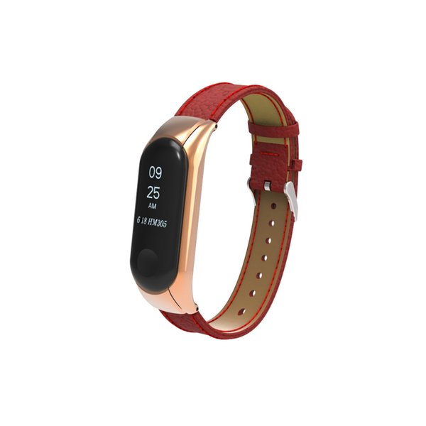 Newest real leather strap For Xiaomi Mi Band 3 Wristband Leather Strap Wrist for Mi band3 Genuine band Bracelet