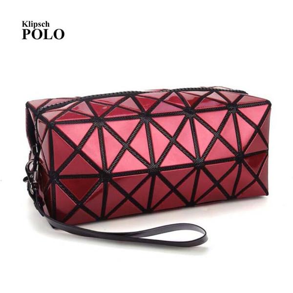 Europe style famous brand designer Women bag grid pattern bright pu leather clutch fashion handbags shoulder Messenger bags