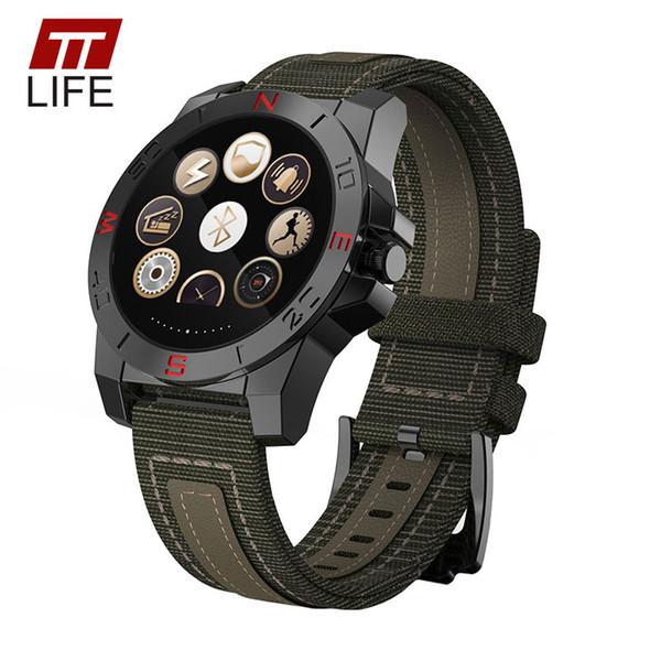 TTLIFE Men Compass Altimeter Bluetooth Smart Watch Heart Rate Monitor Thermometer Sports Watch Men Barometer Climbing Wristwatch