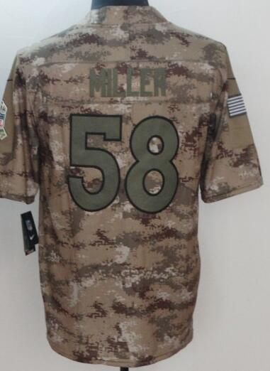 wholesale dealer bd1ec a9167 2018 58 Von Miller Camo Jersey Denver Broncos Demaryius Thomas Salute To  Service Limited American Football Jerseys Cheap Wholesale New Style 4xl  From ...