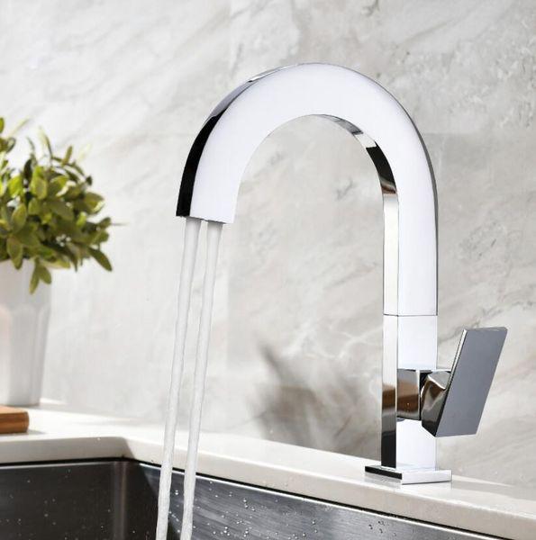 Nouvelle-salle de bains-cuisine-évier Robinet-Deux-Spray-Spout-Mixer-Tap-laiton chromé poli Nouveau-salle de bains-cuisine-évier Robinet-Deux-Spray-Spout-