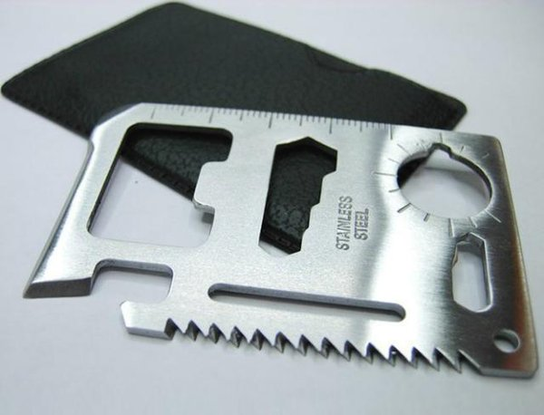 Outdoor Sabre Card Large Size A multifunction 7*4.5cm Swiss Army Knife Card camping tool 11 Uses