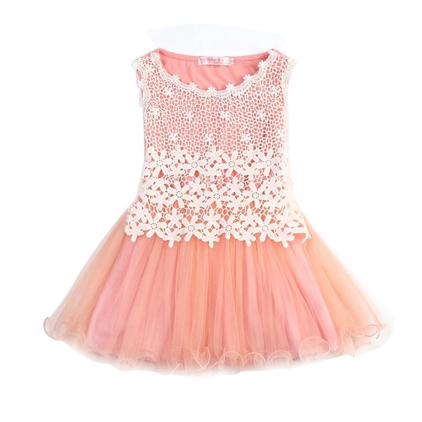 New 2017 Summer Style Girls Dresses Lace Flower Dress For Party Birthday Wear Princess Children Costume Kids Clothes For Girls