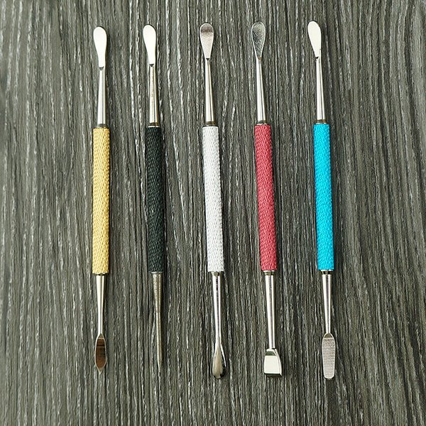 Wax dabber tools 125mm changeable disassembled dab jar cleaning tool metal titanium nail for dry herb vaporizer atomizer vape pen 5Color