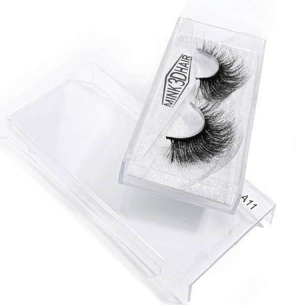 False Eye Lash 100% Real 3D Mink Eyelashes 2 Pairs Eyelash Makeup Kit Professional Lashes Natural Long 1cm-1.5cm Style A 11