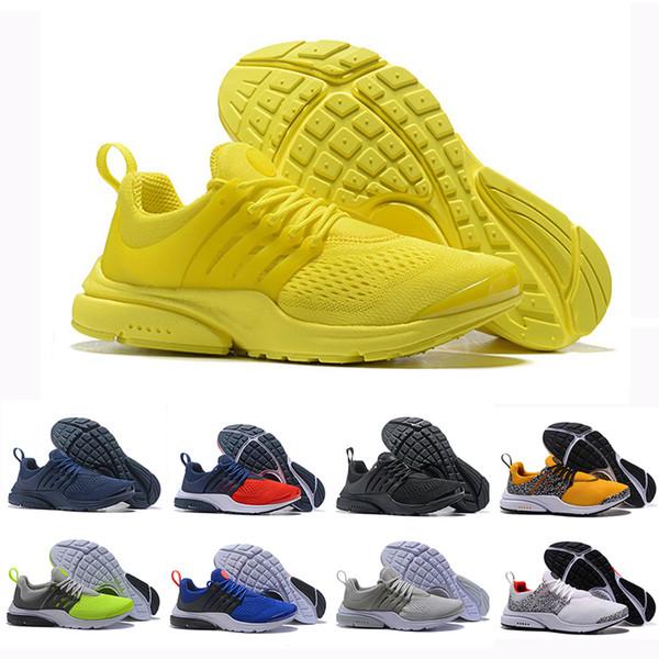 Hava Kırmızı PRESTO BR QS Nefes Sarı Üçlü Siyah Beyaz Mens prestos Ayakkabı Sneakers Kadın Koşu Ayakkabıları Erkekler Spor Safari Paketi ...
