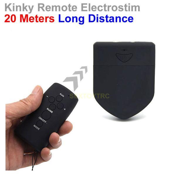 New Design Remote Control Electrical Stimulation Equipment Electrostim Sex Toy Electric Shock Massager 20 Meters Long Distance Adult Novelty
