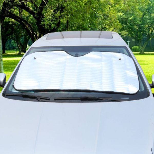 130CM*60CM Car Sun Shade Single Side Silver Foam Cotton Sunshade Anti-exposure Anti Aeration Cool Down Heat Insulation 20PCS EMS