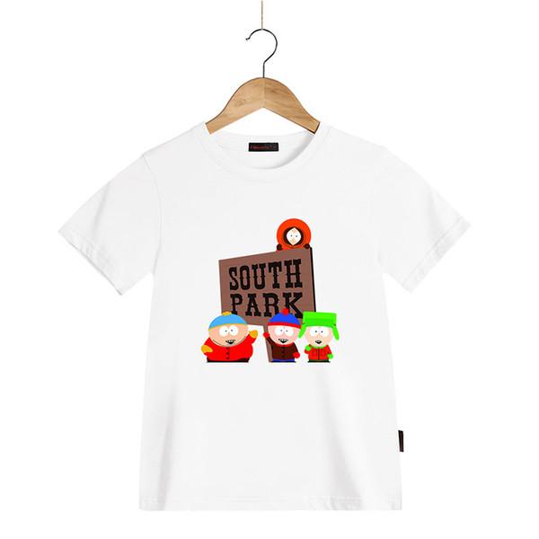 Nueva camiseta de algodón de moda de verano para niños ropa de dibujos animados South Park camiseta de manga corta Top Tees para niños niñas niños