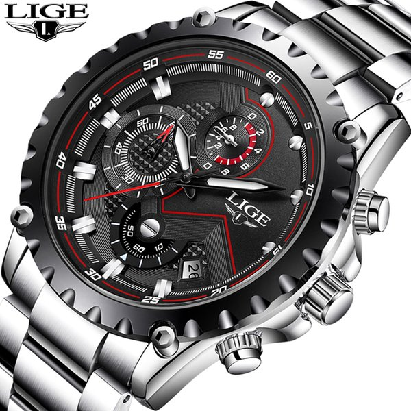 LIGE Watch Men Fashion Sport Quartz Clock Mens Watches Top  Business Waterproof Watch Relogio Masculino relojes 2018